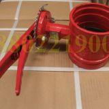 天津工厂供应软密封手柄沟槽蝶阀D81X-16球墨铸铁阀板衬胶