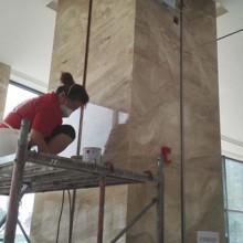 供应酒店大理石防护v大理石墙面打磨