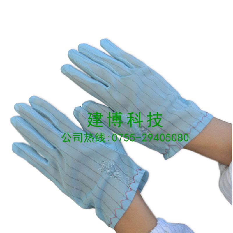 供应防静电条纹手套蓝色条纹手套