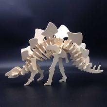 供应木制3D立体模型恐龙玩具厂家直销 儿童DIY益智拼板拼图,