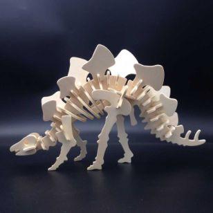 木制3D立体模型恐龙玩具厂家直销图片