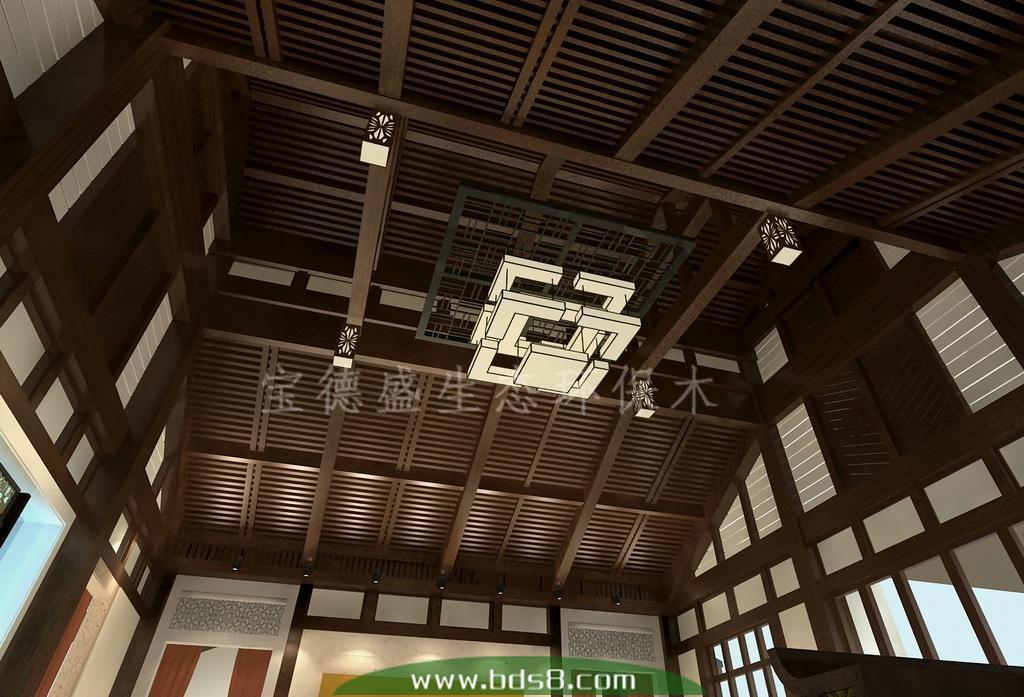 用于栈道室内吊顶|隔断格栅屏风|背景墙墙板的生态木吊顶天花 方通