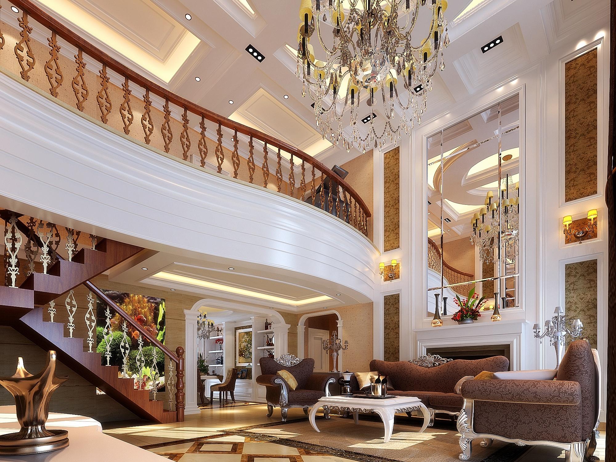 本案是龙之梦欧式风格别墅装修效果图,本案最大的特点图片