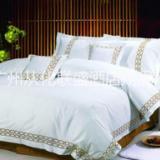 供应星级酒店床上用品套装 纯棉四件套 定制logo款色