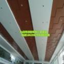 成都广本4S店展厅吊顶木纹铝单板图片