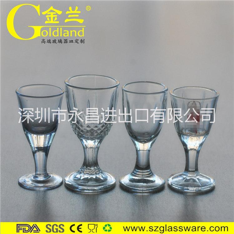 供应厂家直销水晶玻璃烈酒杯高脚白酒杯子弹杯酒盅一口杯