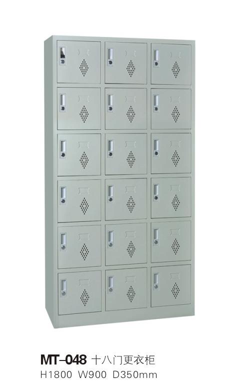 湖南推拉式钢制十八门更衣柜价格,湖南推拉式钢制十八门更衣柜批发