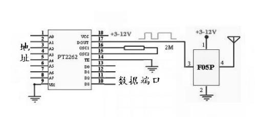 315/433m无线模块 无线发射模块 f05p