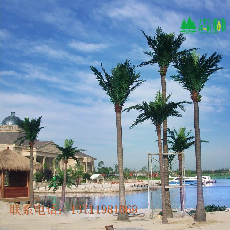 福建椰子树仿真椰子树厂家直销 玻璃钢材质 sl-ys-5 仿真椰树 仿真