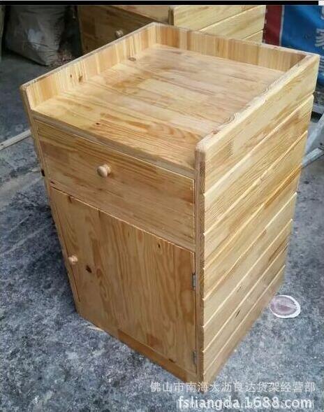 佛山厂家直销超市木制货架超市木质打称台收银台计量台端头柜称台
