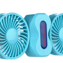 厂家直销创意情侣风扇 两头旋转风扇 便携户外迷你小风扇 USB风扇批发