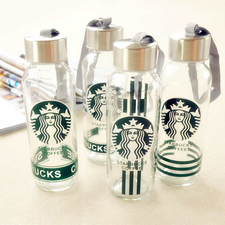 厂家直销现货供应300ml便携玻璃水杯定制广告礼品促销玻璃杯子