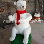 玻璃钢北极熊动物雕塑图片