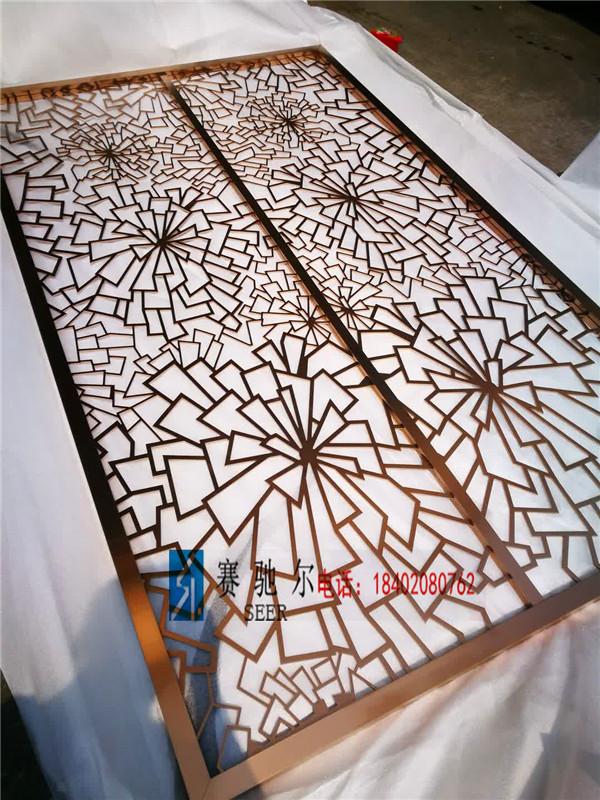 供应北海市田园镂空雕花屏风 不锈钢简约设计屏风 时尚镂空屏风价格