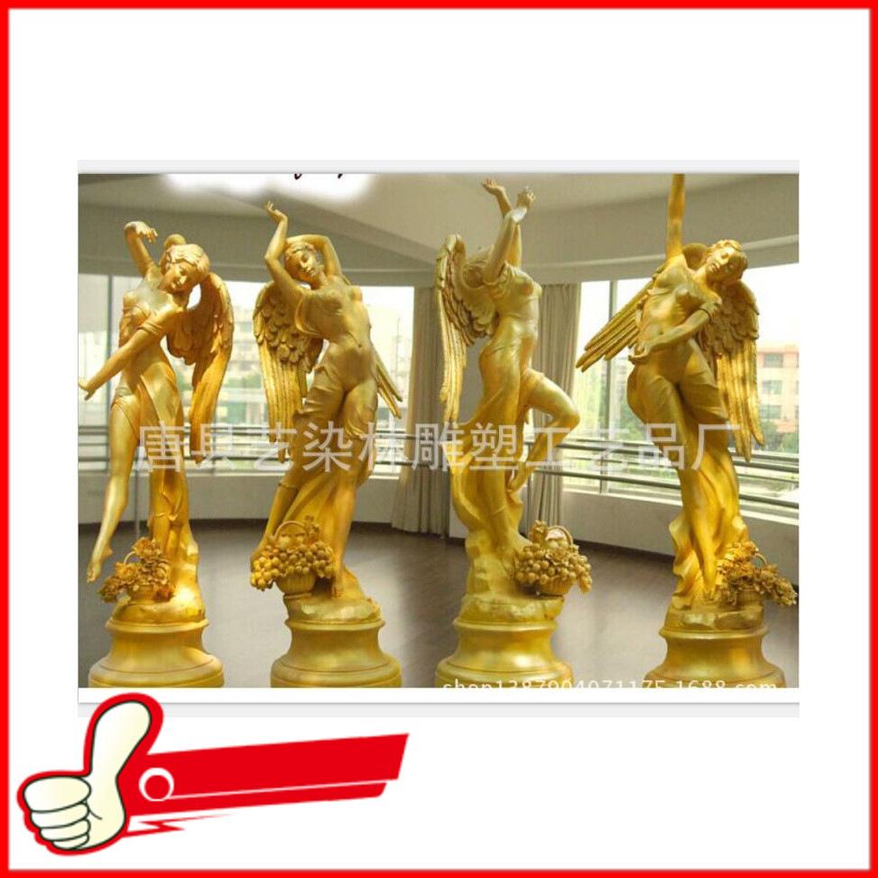 大型高档玻璃钢欧式摆件 酒店雕塑摆件 树脂工艺品批发