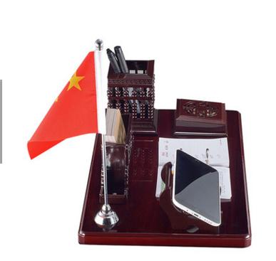 2017红木台历架创意礼品商务高档办公桌面台历 手机摆件定制logo