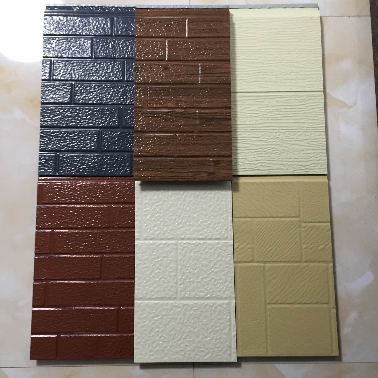环卫工人休息室外墙装饰板2公分厚砖纹金属雕花保温板