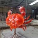 顺德雕塑 厂家定制玻璃钢面包蟹雕塑 仿真蟹模型 户外雕塑