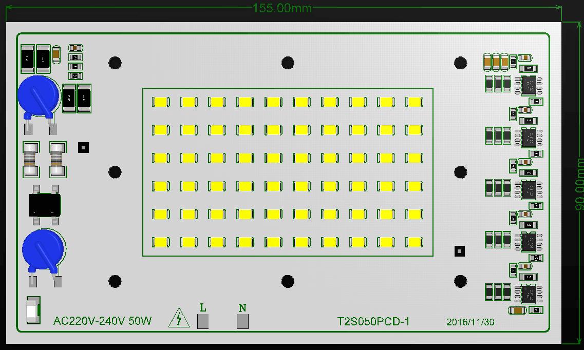 中山地区厂家直销线性 LED AC DOB 模组 高功率高流明认证ELP模组