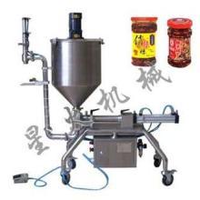 香辣酱灌装机专业针对大颗粒酱料设