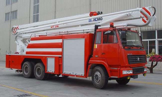 重汽豪沃/斯太尔登举高喷射消防车销售