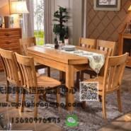 天津实木餐桌椅 天津榆木餐桌椅图片
