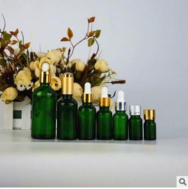 厂家直销 10ml/30ml 滴管 花篮盖 绿色精油调配 膏霜瓶
