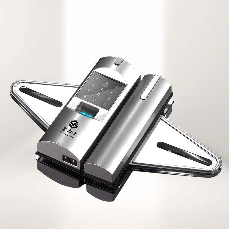 豪力士玻璃锁D2120F 豪力士指纹锁D2120F