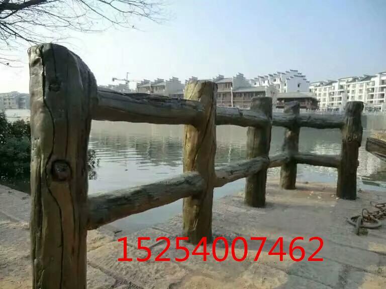 仿木栏杆安装 水泥仿木栏杆定制 景区仿木栏杆多少钱一米 仿木栏杆厂家 仿木栏杆造型