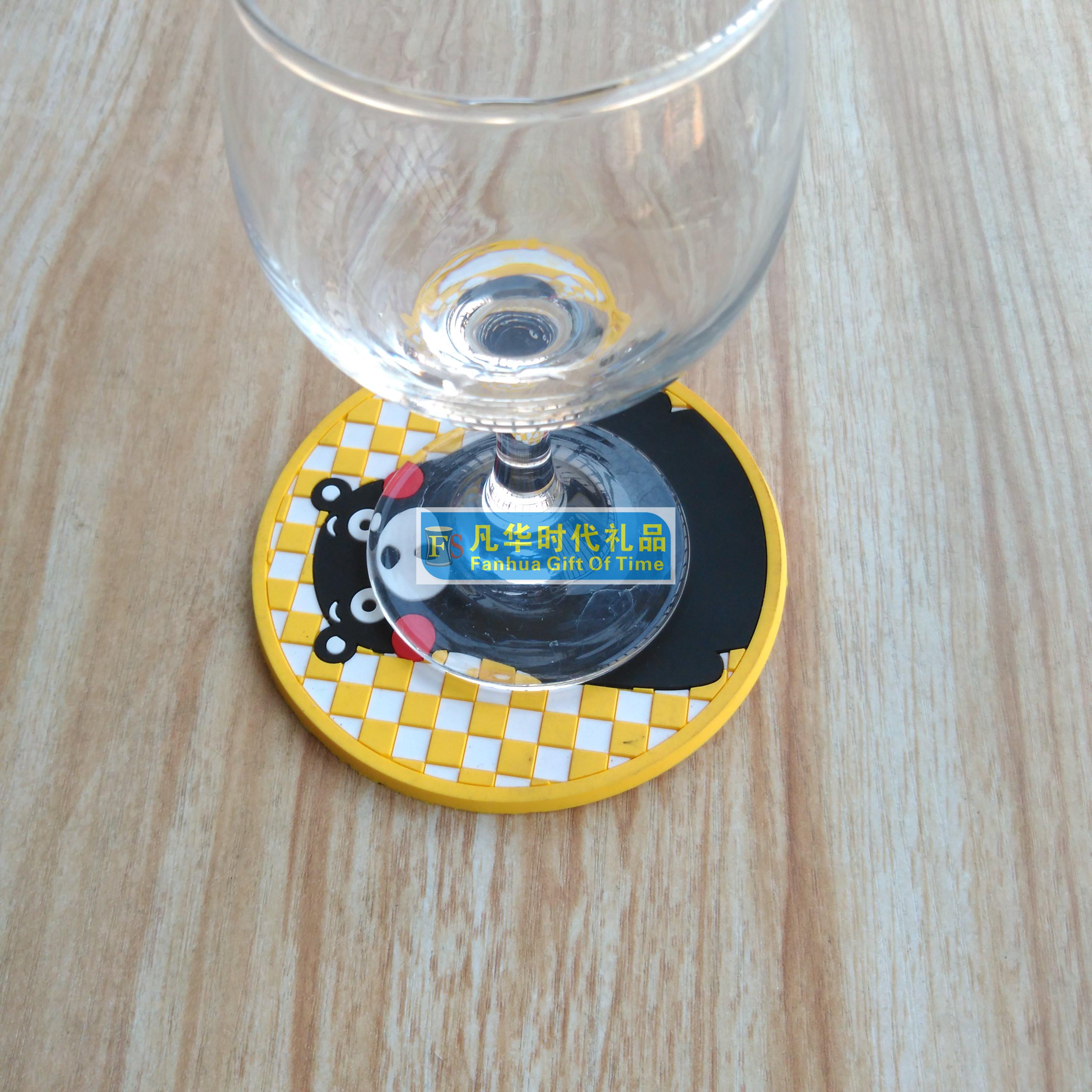 厂家定制PVC塑胶杯垫 软胶杯垫广告礼品 酒店宣传杯垫礼品