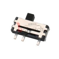 卧式三脚两档带柱微型拨动开关规格8.8mm×3.0mm×2.0mm型号MK-12D70E-GXXX厂家直销货优价美耐高
