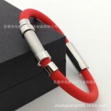 新款不锈钢弯扣手环、电镀金色手链、静电手链、多色可选