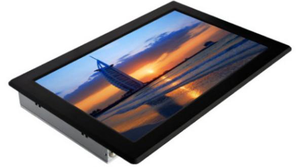 19寸嵌入式系统工业平板电脑宽屏触摸一体机