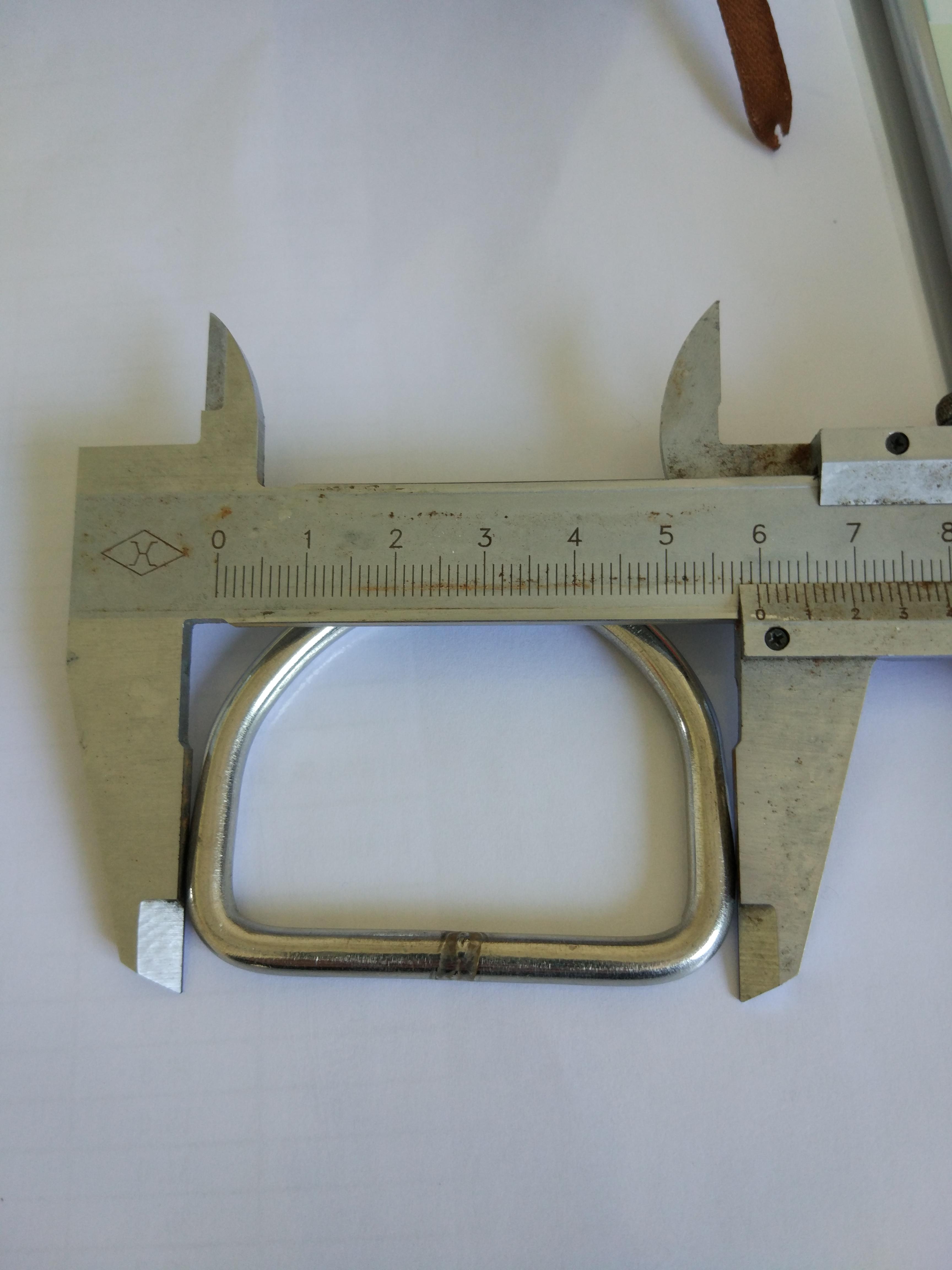 现货批发不锈钢D型环 304不锈钢D形扣厂家定做箱包扣规格全