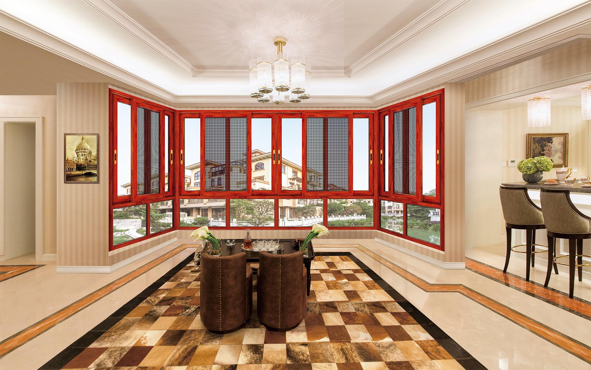 广东铝门十大品牌供应126非断桥铝合金门窗-康盈门窗
