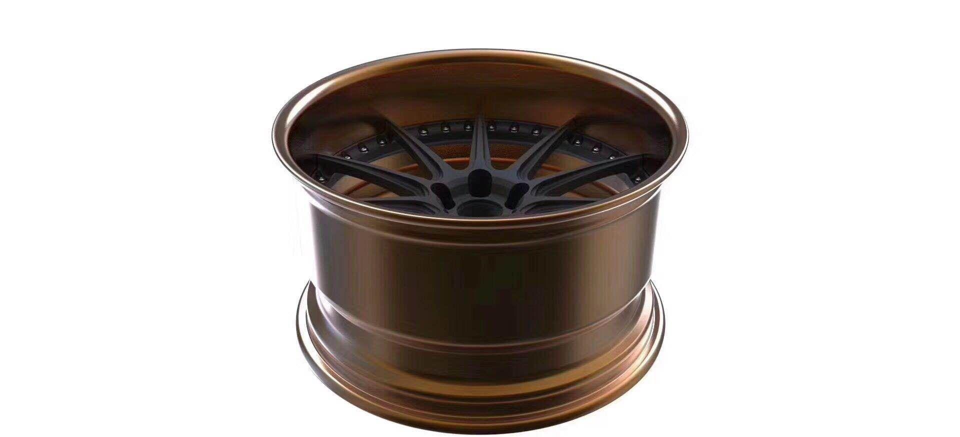 两片式锻造铝合金轿车轮毂 重庆两片式锻造铝合金轿车轮毂