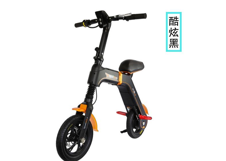 酷外城市代步车便携式迷你成 人电瓶车锂电电动车自行车折叠电动 车