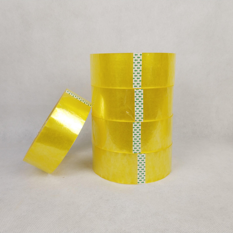惠州厂家直销 透明米黄封箱胶纸封箱胶带封箱胶布规格可定做可印字印logo