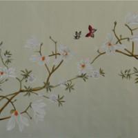 江苏丝绸手绘壁画 【厂家供应】 无锡琴棋壁画供应