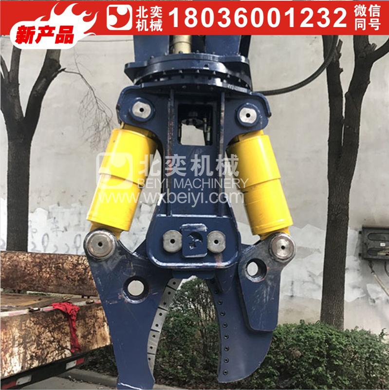 挖机专用鹰嘴形液压剪 报废车拆解 无污染效率高