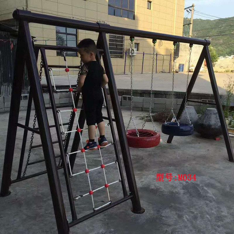 小区秋千 户外大型秋千 钢管秋千架 幼儿园小区公园家用庭院秋千 儿童玩具