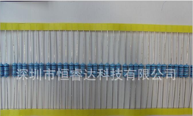 厂家直销  金属膜电阻 深圳金属膜电阻厂家  直插五色环金属膜电阻  深圳长期供应金属膜电阻