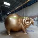 供应新年新气象玻璃钢卡通猪雕塑图片