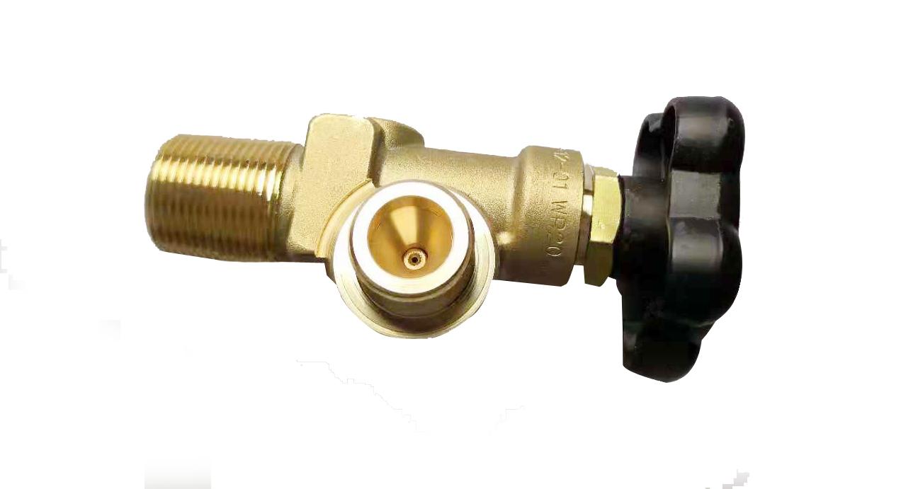 QF-40B氧,氢,氦等5/8气瓶保压阀,余压保持阀