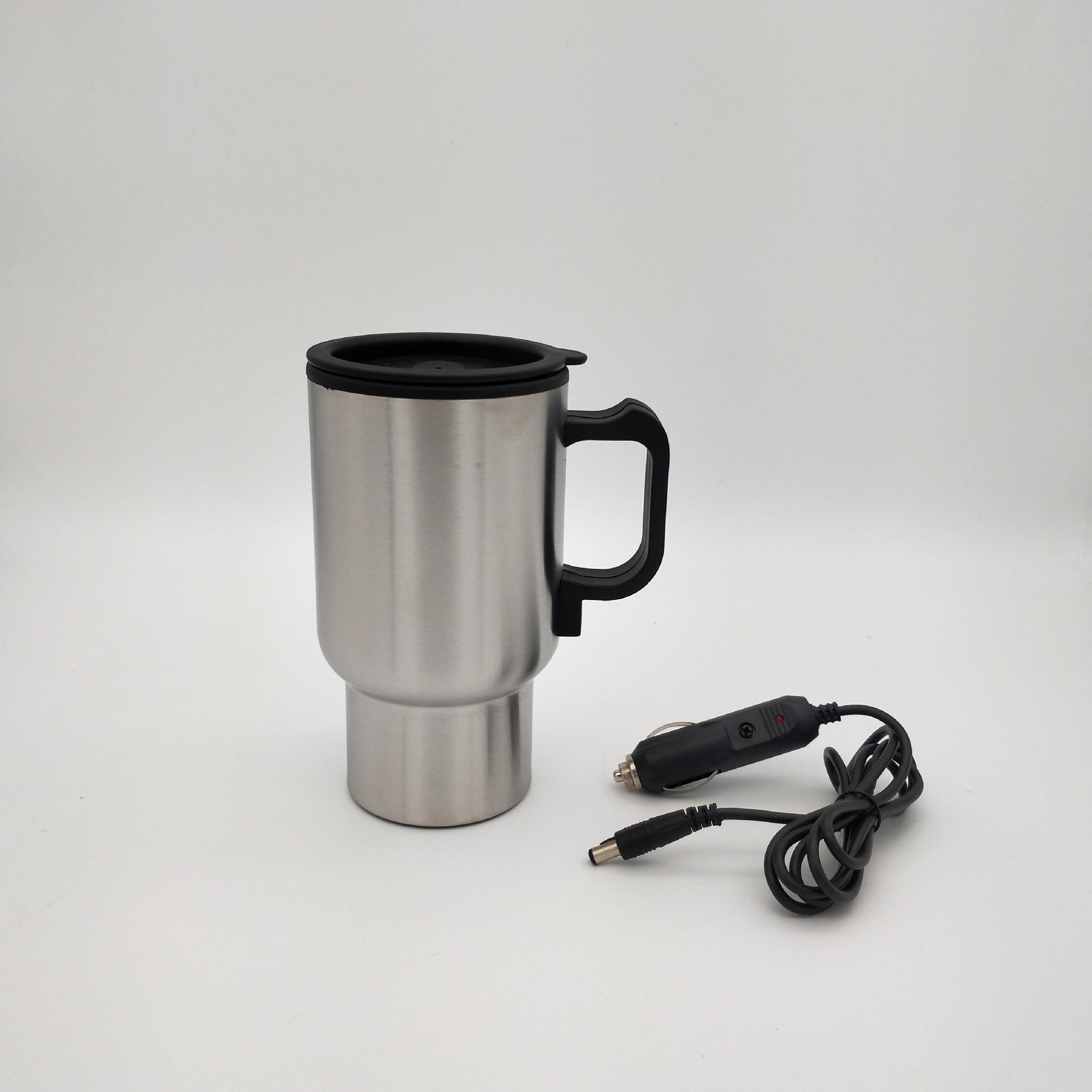 汽车杯电热水杯12V车用保温杯不锈钢电热烧水杯旅行车载加热杯子电热杯