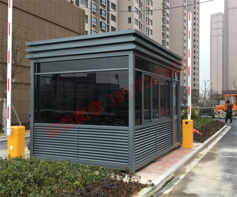 上海欣点岗亭生产厂家 定做迷你款钢结构小区保安岗亭隔热保温好岗亭供应商