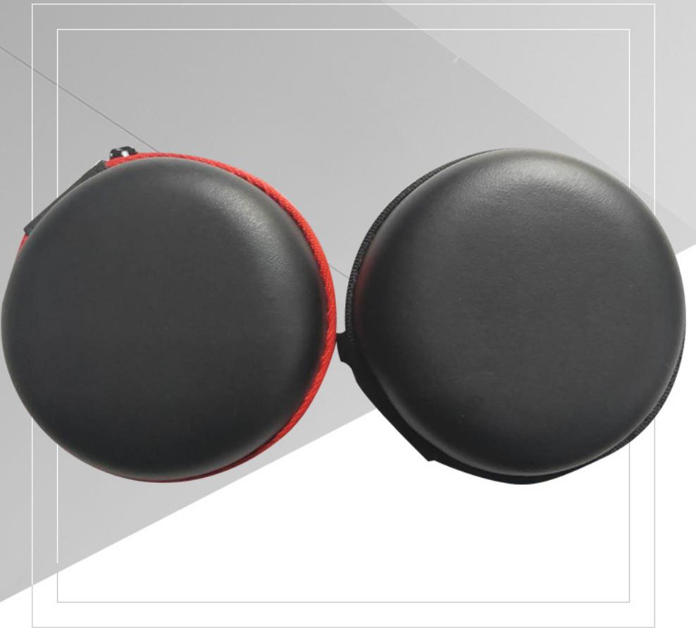 圆形小收纳包 圆形耳机包 圆形收纳包 便携收纳包 数码产品收纳包圆形耳机包直销