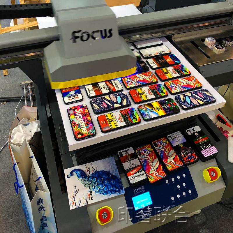 梳子uv平板打印机个人创业机器商标logo打印机拼图彩印上色机  个性DIY定制3d浮雕手机uv