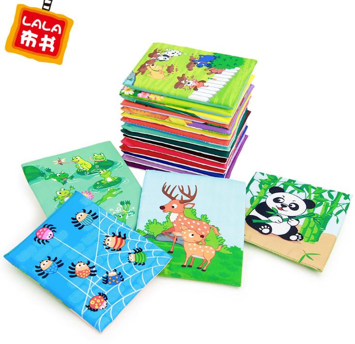 婴儿启蒙益智玩具拉拉布书 0-3岁宝宝早教教具安全无毒识字卡片潮