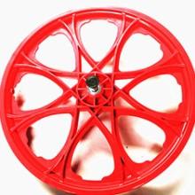 20*1.75塑料轮毂 一体自行车轮辐 16寸20寸自行车塑料一体轮毂批发